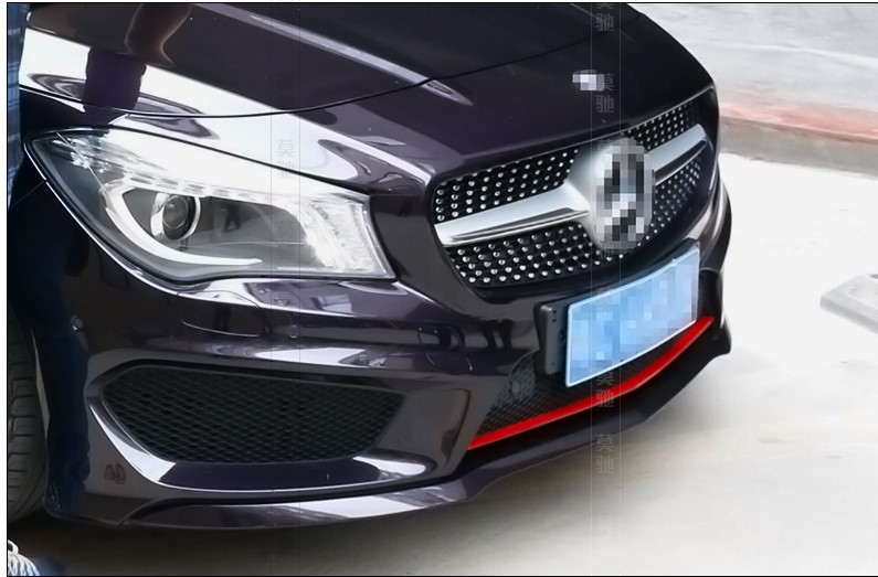 The Red Stainless Steel Decoration For  Mercedes-Benz CLA Front Bumper Sequins Accessories