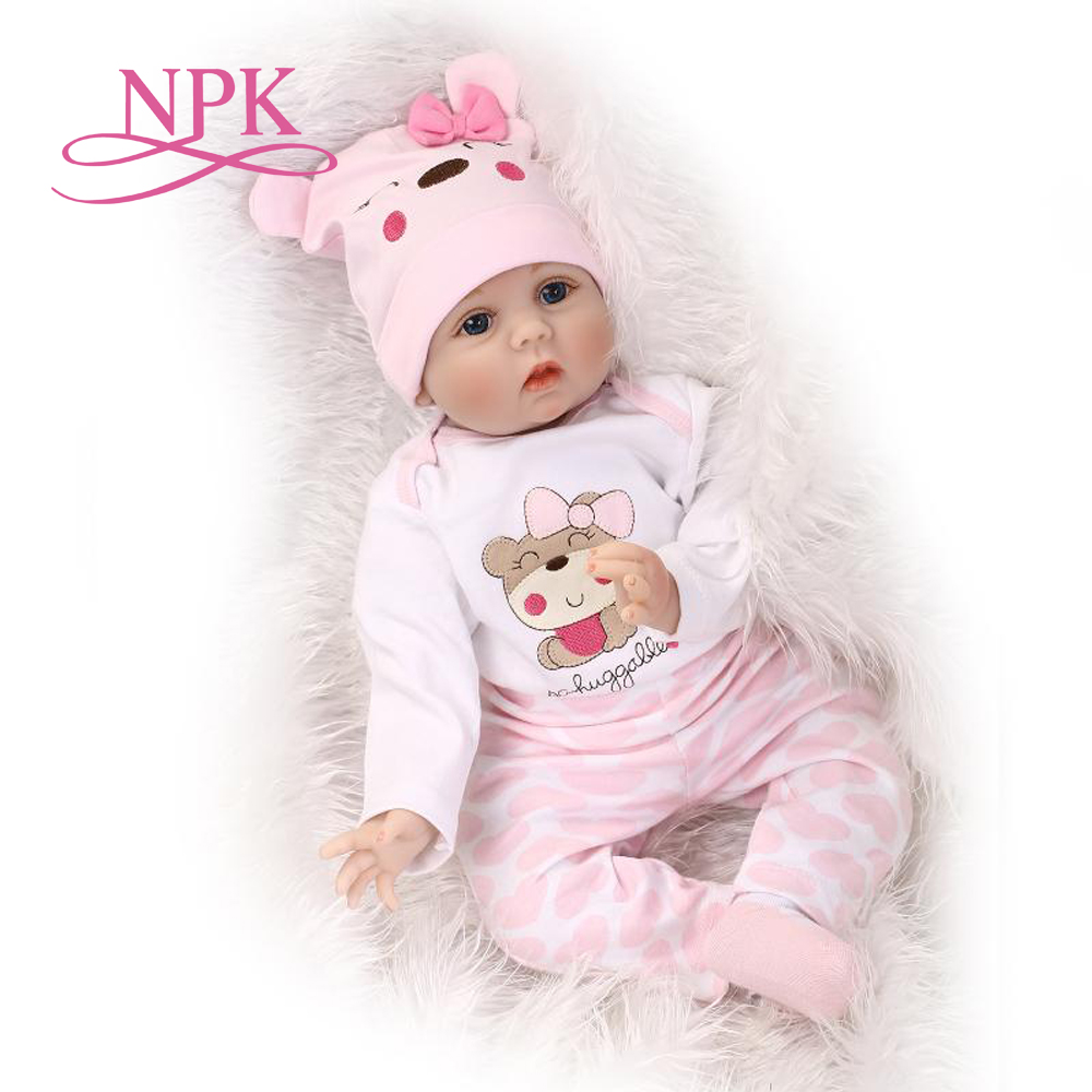 55CM Soft Body Silicone bebe Reborn Baby Doll Toy For Girls NewBorn Baby Birthday Gift Bedtime Early Education Christmas Gift цена