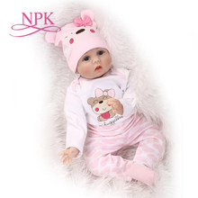 55CM Soft Body Silicone bebes Reborn Baby Doll Toy For Girls NewBorn Baby Birthday Gift Bedtime Early Education Christmas Gift(China)
