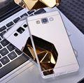 Espejo case suave cubierta posterior para samsung galaxy j3 j5 j7 a3 a5 a7 2015 2016 s3 s4 s5 neo s6 s7 borde grand prime para iphone 5 5s 6