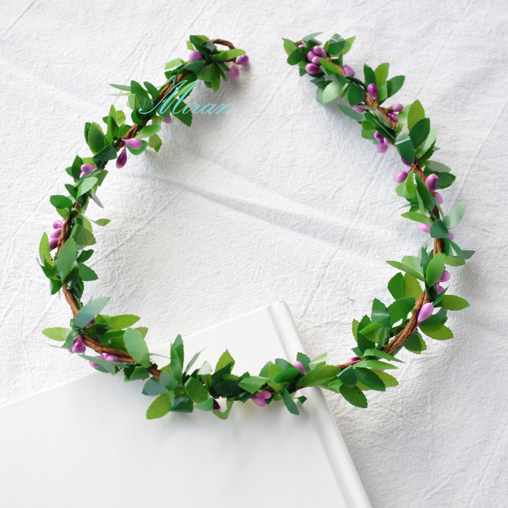 10 pcs wholesales handmade rustic violet colors pip berries green 10 pcs wholesales handmade rustic violet colors pip berries green leaves festivals feminine fresh flower crown in wreaths garlands from home garden on izmirmasajfo