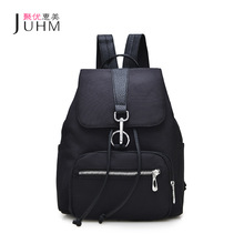 JUHM Fashion Designer Small Waterproof Oxford Women Backpack Black Drawstring Casual Style Backpacks Female Travel Back Pack