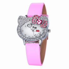 WoMaGe Hello Kitty Girls Rhinestone Casual Quartz