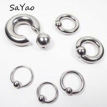 Большие кольца SaYao Из Нержавеющей Стали Для Пирсинга Ушей, Ювелирное Украшение для пирсинга носа, соска, па, 2 штуки