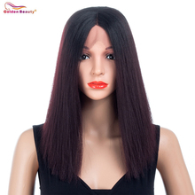 12inch Straight Synthetic Lace Front Wig Shoulder Length Blunt Cut Bob