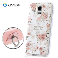 High Quality 3D Relief Print Soft TPU Back Cover Case For Samsung Galaxy S5 Phone Bag