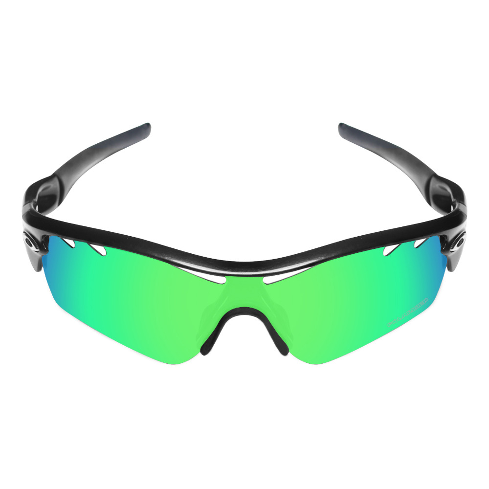 HKUCO Plus Mens Replacement Lenses For Oakley Radar Path-Vented Sunglasses Emerald Green Polarized Tefuy