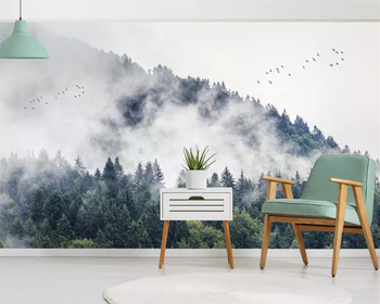 Beibehang Custom Mural Wallpaper Green plant forest flying bird mountain Photo wallpaper 3D TV background 3d tapety