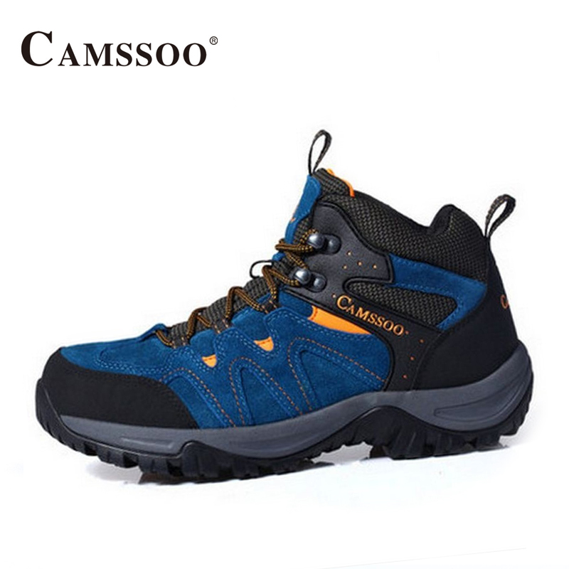 Camssoo Hiking Shoes Men Winter New Arrival High Quality Platform Sneakers Wearable Comfortable Boots AA50172 kelme 2016 new children sport running shoes football boots synthetic leather broken nail kids skid wearable shoes breathable 49