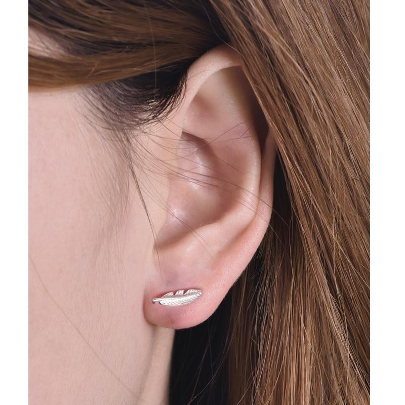 2017 New Fashion Jewelry Gold Silver Fallen Leaves Stud Earrings for Women Vintage Leaf Earrings Gifts Men e0161