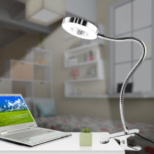цена на LED Desk Lamp Clip-On Night Light USB Rechargeable 5W 360 Degrees Adjustable Dimming Reading Lamp For Bedroom