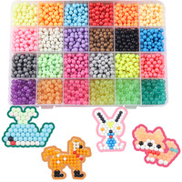 24 Colors 3600Pcs Water Beadbond Aquabea Beads Full Set Tool Kit Kids Puzzle Toys DIY Game 3D Puzzle Toys Birthday Gift