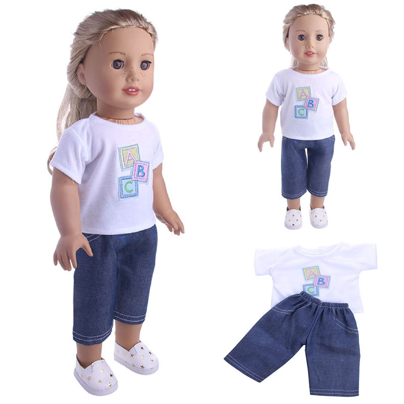 Cute Clothes & Pants Clothes For 18 inch Our Generation American Girl Doll Education Toy Baby Toys & Games Children