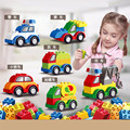 Одиночная распродажа, автомобиль большого размера «сделай сам», совместимый с фирменными деталями, строительные блоки, развивающие кирпич...