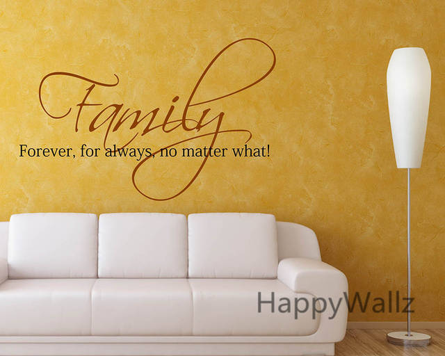 Family Forever For Always No Matter What Family Quote Wall Stickers ...