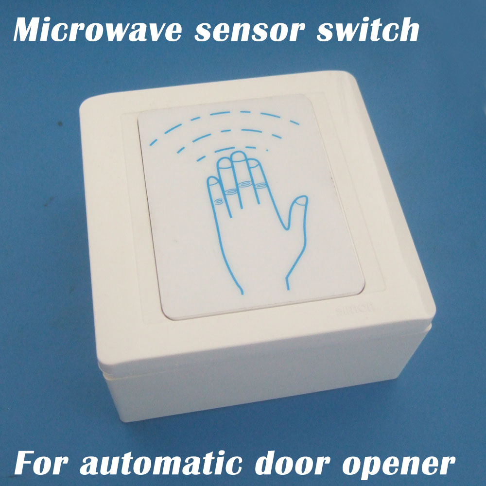 Microwave Contactless Motion Sensor Switch For Automatic Door Opener
