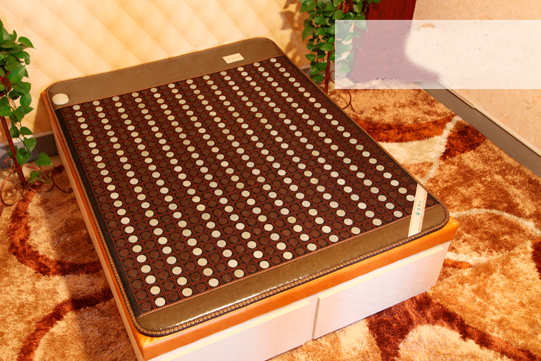 2016 Korea Heated Bed Cushion Tourmaline Jade Stone Mattress Far Infrared Heated Bed Mattress 1 2