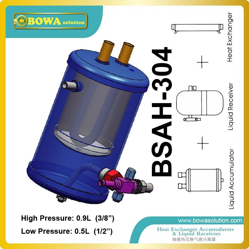 Ev Aletleri'ten Isı Pompalı Su Isıtıcısı Parçaları'de 3 in 1 soğutucu boru hattı bileşenleri entegre fonksiyonları alıcı  ısı değiştirici ve akümülatör  iyi tasarım LBP ünitesi