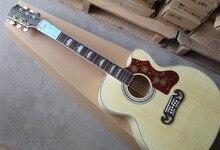 Firehawk Custom Burlywood Spurce Top G J200 Acoustic Guitar SJ200 VS Single Cutaway Free Shipping