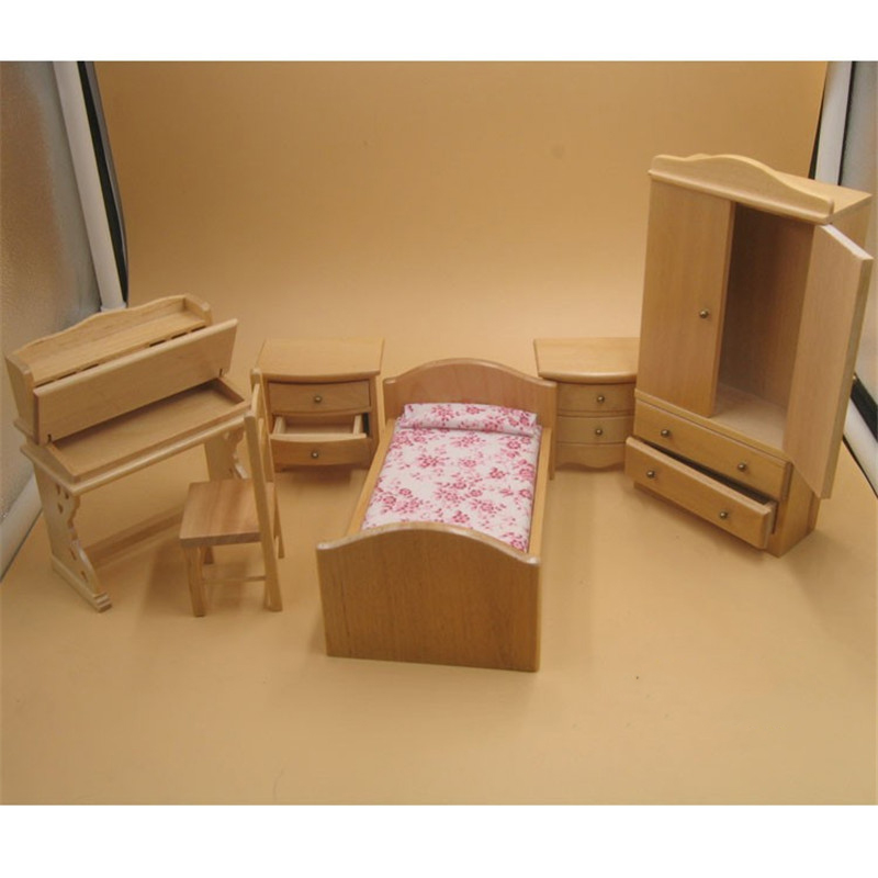 6pcs/sets 1:12 Simulation Miniature Wooden Furniture Toys DollHouse Wood Furniture Set doll house for children pretend play toy6pcs/sets 1:12 Simulation Miniature Wooden Furniture Toys DollHouse Wood Furniture Set doll house for children pretend play toy