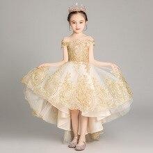 Утолщенные Теплые Свадебные платья принцессы для девочек; Новые Платья с цветочным узором для девочек; платья для первого причастия с аппликацией; vestidos