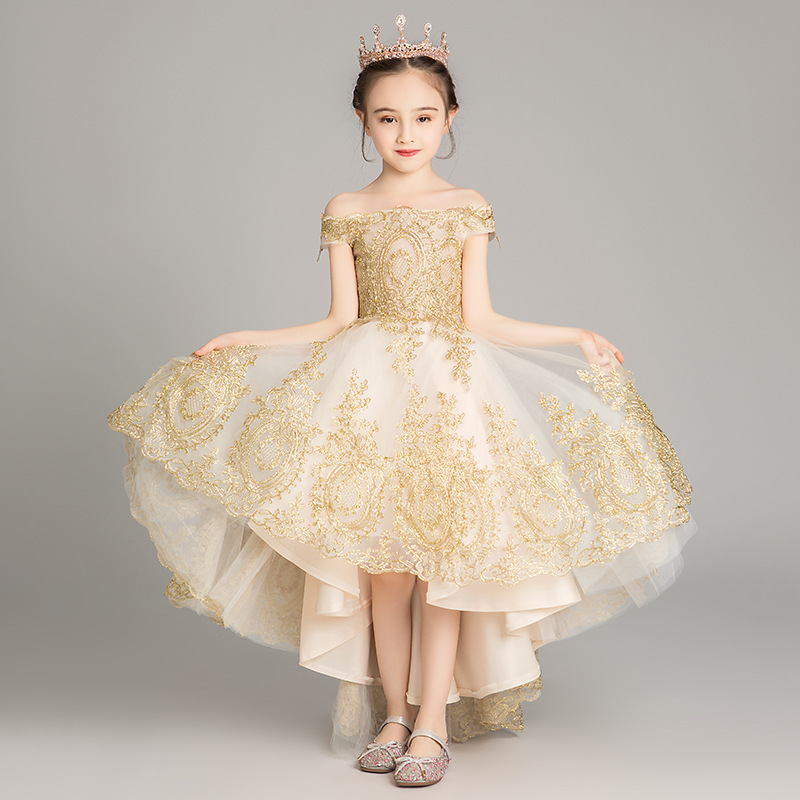 Girls Thicken Warm Princess Wedding Party Dresses New Flower Girl Dresses Appliques First Communion Dresses vestidos
