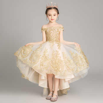 Girls Thicken Warm Princess Wedding Party Dresses New Flower Girl Dresses Appliques First Communion Dresses vestidos - DISCOUNT ITEM  46% OFF All Category