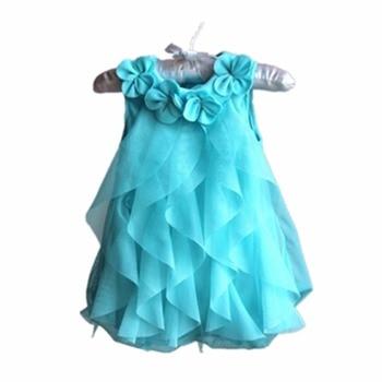 Girls Dress 2017 Summer Chiffon Party Dress Infant 1 Year Birthday Dress Baby Girl Clothes Dresses & Headband Vestidos