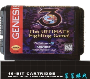 Mortal Kombat 3 - The Ultimate Fighting  - 16 bit MD Games Cartridge For MegaDrive Genesis console