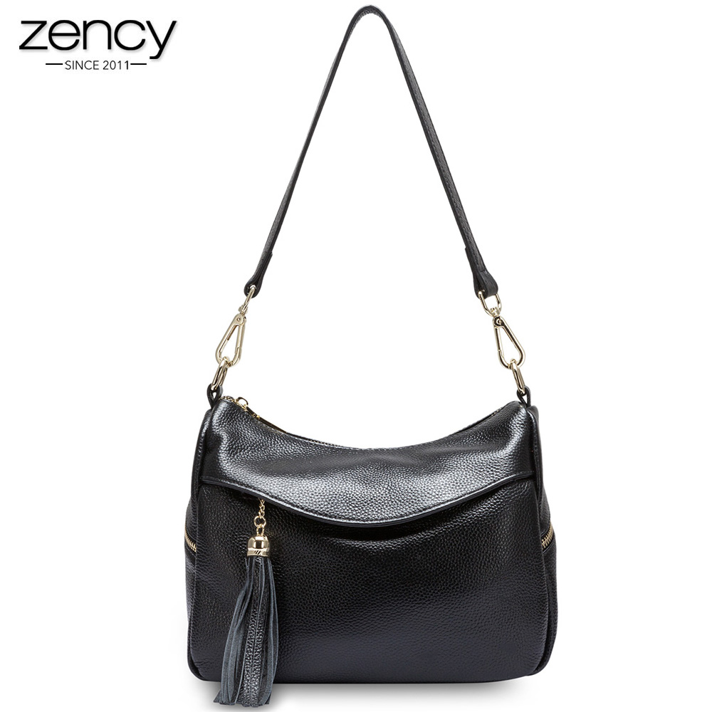 100% soft genuine leather handbags for female a bag on shoulder women crossbody packs ladies fashion unique tassel messenger bag soft cowhide genuine leather women shoulder bags fashion handbags simple european style boston messenger bag pillow female packs