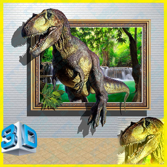3D Dinosaur 2 Wall Stickers Park Home Decoration DIY Shopping Mall Take a Picture Ground Wall & 3D Dinosaur 2 Wall Stickers Park Home Decoration DIY Shopping Mall ...