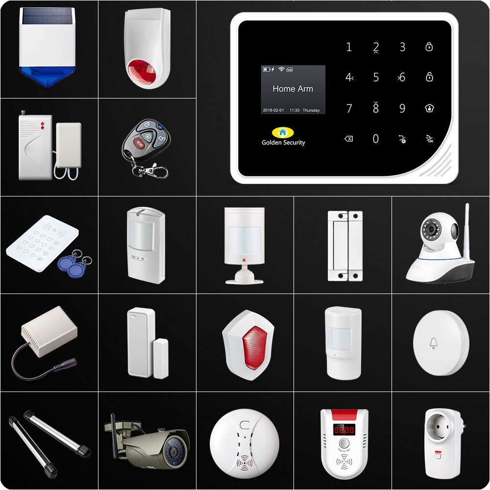 fuers russian english wifi gsm home alarm system security phone apps control russian alarm with ip camera wifi gsm alarm system Latest WIFI GSM Alarm System Security Home GSM Alarm System APP Control Alarm Russian Spanish English Dutch S5 Anti-pet Motion