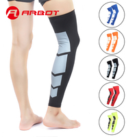 ARBOT Outdoor Sports Elastic Breathable Shin Guards Football Running Protective Leg Calf Compression Sleeves Men Women