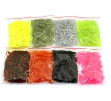 Big Sale 400pcs/8pack T Tail Bait Long Tail Fishing Lure Artificial Soft Bait Grub Worm Fishing Lures 5cm About 37g/pack