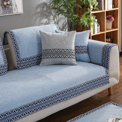 Four seasons universal cotton woven sofa cushion, fabric modern minimalist cushion