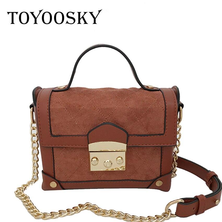 5dcd0e92c5dd TOYOOSKY Vintage Women Nubuck Leather Bag Messenger Bags Patchwork Box Flap  Retro Girls Crossbody Square Small Clutch Purse