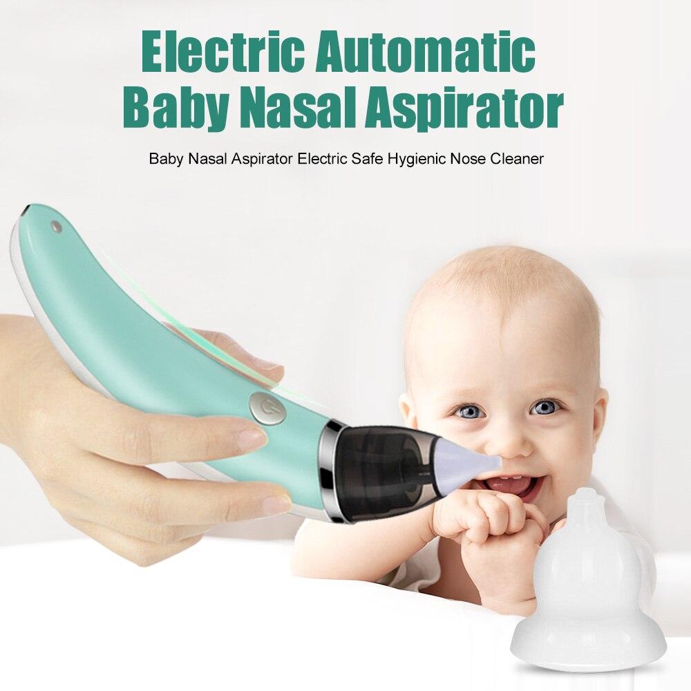 2018 Bambino Aspiratore Nasale Naso Elettrico Cleaner Sniffling Attrezzature di Sicurezza Igienico Naso Moccio Cleaner Per Dell'infante appena nato Del Bambino