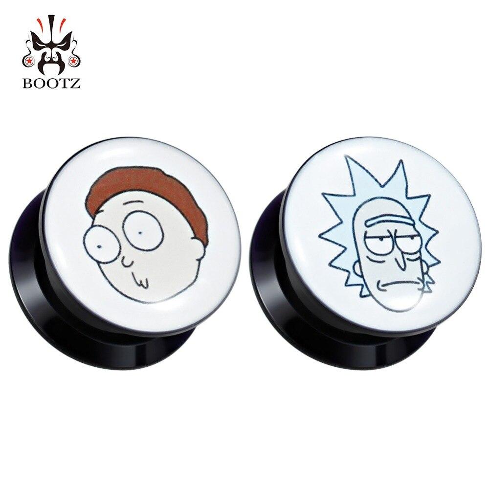 KUBOOZ Piercing bijoux acrylique bouchons d'oreille Tunnels agrandisseur image Logo jauges vis boucles d'oreilles civière bijoux de mode