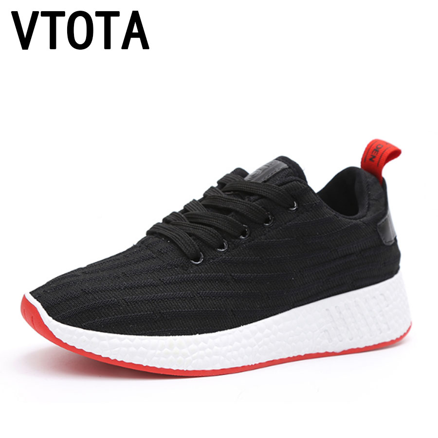 VTOTA Sneakers Women Lace-Up Casual Shoes 2018 Summer Platform Wedges Shoes Mesh Zapatillas Mujer Black Casual Shoes Woman H87 цены онлайн