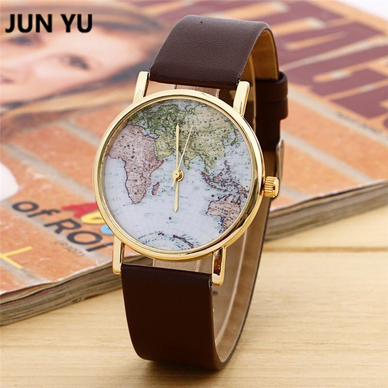 JUNYU World Map Reloj Globe Graduation Gift para mujer Regalo de - Relojes para mujeres