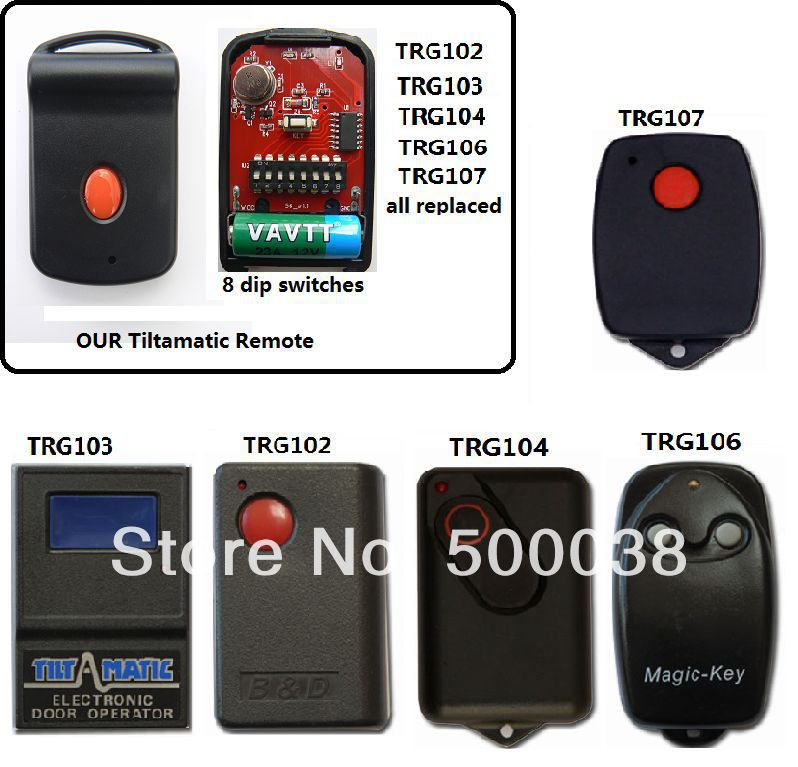 free shipping tilt a matic remote ,door mate remote ,parker remote,  all in one дино спарклс