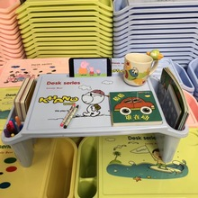 Children's Lazy Desk Plastic Small Dinner Table Baby Learning Table Bed Laptop Table Kids Desk Convenient