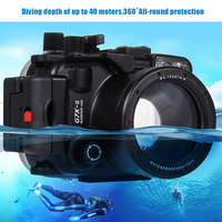 Mcoplus G7XII 40m/130f Underwater Waterproof camera Housing case Bag for Canon G7XII DSLR Camera