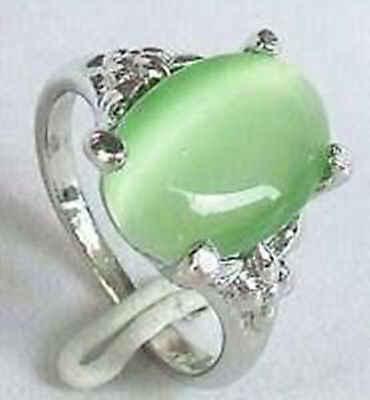 จัดส่งฟรี@@@@@สวยสีเขียวหยกแหวนขนาด: 7, 8, 9 #
