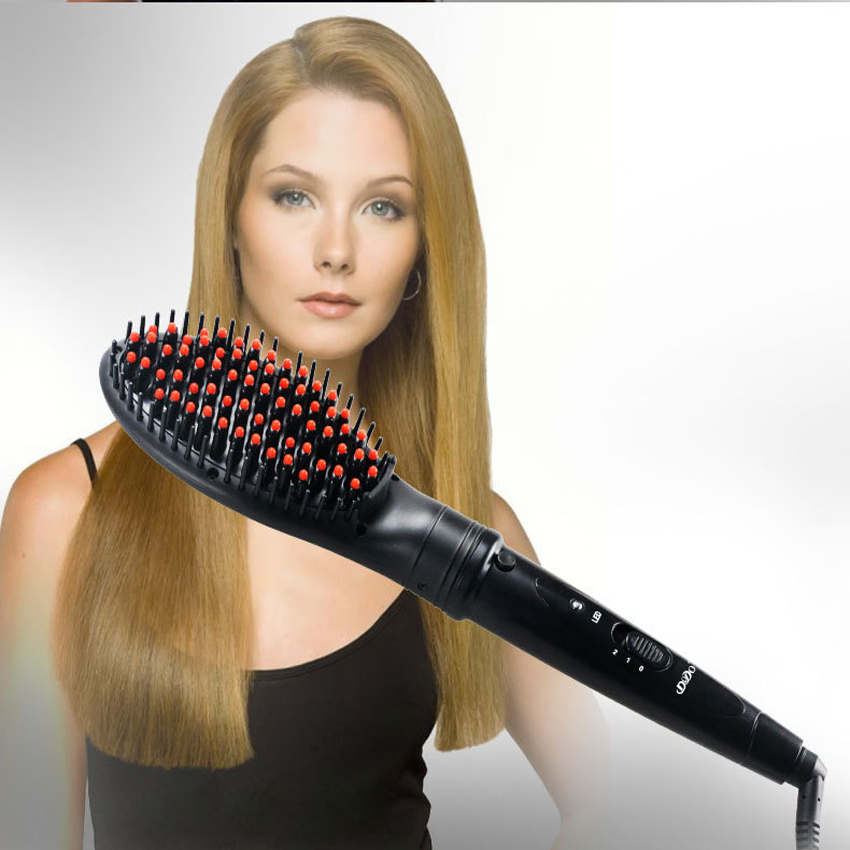 Electric hair straightener brush Hair Care Styling hair ...