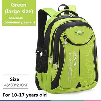 2020 hot new children school bags for teenagers boys girls big capacity school backpack waterproof satchel kids book bag mochila - Large-Green