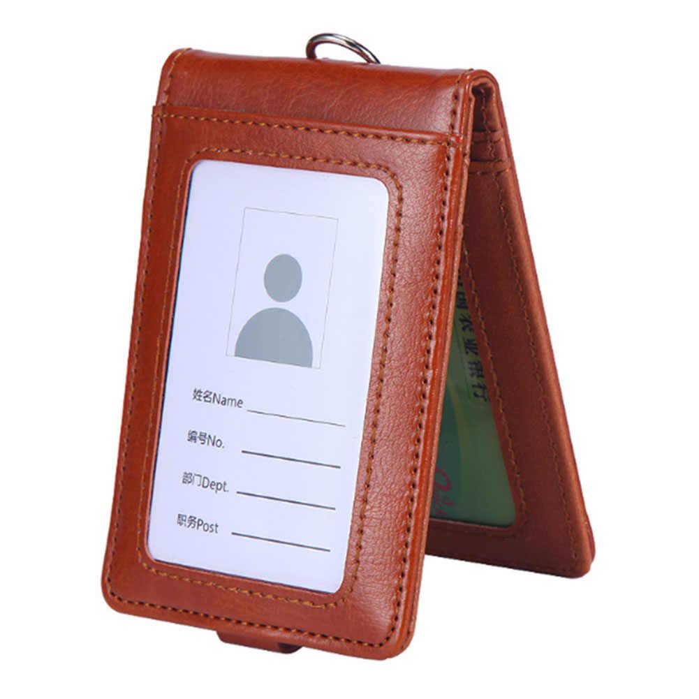 ใส่นามบัตรสายคล้องคอ Lanyard Badge ผู้ถือพนักงานการ์ดรถบัส ID ผู้ถือเครื่องเขียน Office ผู้ถือบัตรอุปกรณ์