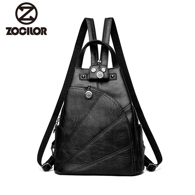 Fashion Leisure Women Backpacks Women s PU Leather Backpacks Female school Shoulder  bags for teenage girls Travel Back pack d7e1bd0e81