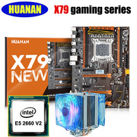 HUANAN X79 Deluxe Gaming Motherboard CPU Combos X79 LGA2011 Motherboard Intel Xeon E5 2660 V2 With