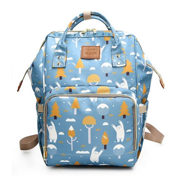 Mommy Diaper Bag Large Capacity Baby Nappy Bag Designer Nursing Bag Fashion Travel Backpack Baby Care Bag for Mother Kid